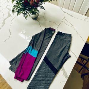 UA heatgear capris and long sleeve (matching)
